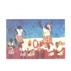 ポストカード / メッセージカード アフリカ バティック ポストカード【DANCE COMPETITION ダンス競技 】
