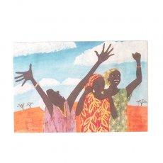 アフリカン アフリカ バティック ポストカード【AFRICA DAISUKI Give Thanks and Praises 感謝と賞賛を与える】