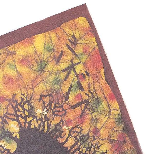 アフリカ バティック ポストカード【BAOBAB バオバブ】【画像3】