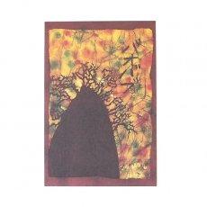 ポストカード / メッセージカード アフリカ バティック ポストカード【BAOBAB バオバブ】