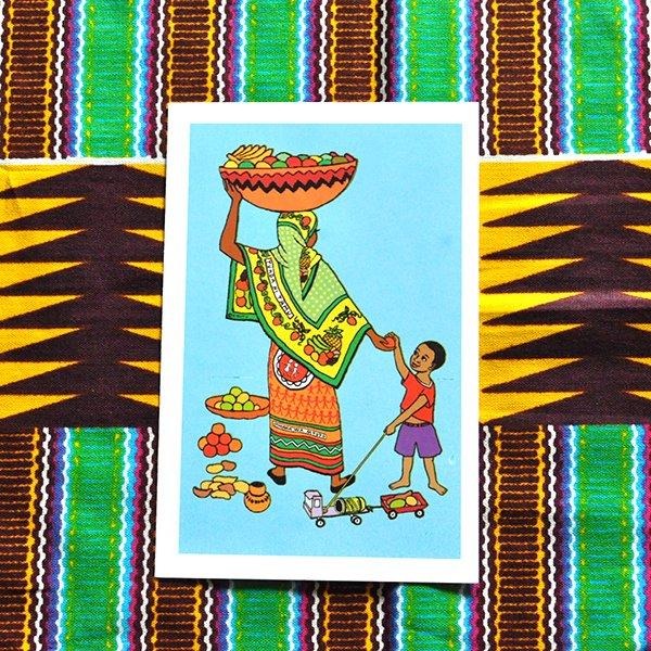 ケニア イラストメッセージカード B(封筒付き)【画像2】