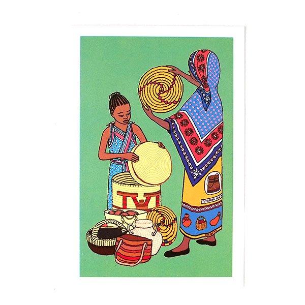 アフリカ イラストグリーディングカード