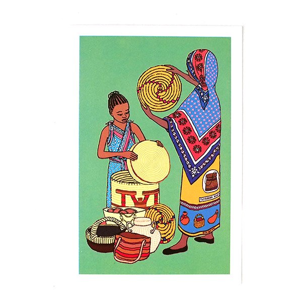ケニア イラストメッセージカード C(封筒付き)
