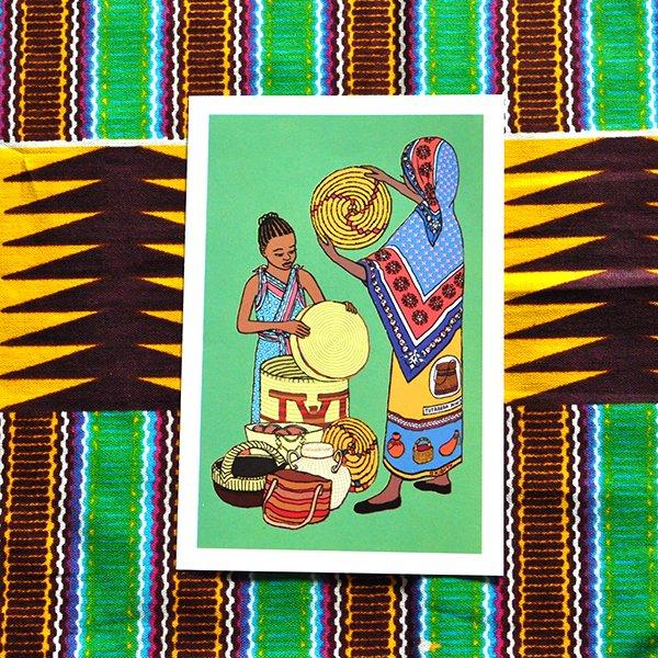 ケニア イラストメッセージカード C(封筒付き)【画像2】