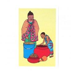 ケニア イラストメッセージカード D(封筒付き)