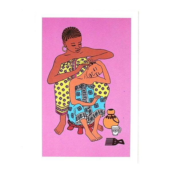 ケニア イラストメッセージカード E(封筒付き)
