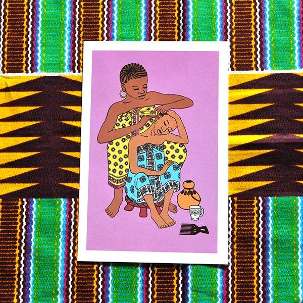 ケニア イラストメッセージカード E(封筒付き)【画像2】