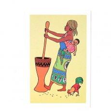 ポストカード / メッセージカード ケニア イラストメッセージカード F(封筒付き)