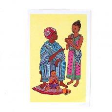 ポストカード / メッセージカード ケニア イラストメッセージカード G(封筒付き)