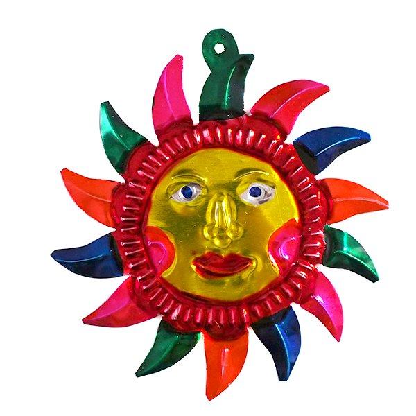 メキシコ ブリキのオーナメント(太陽)