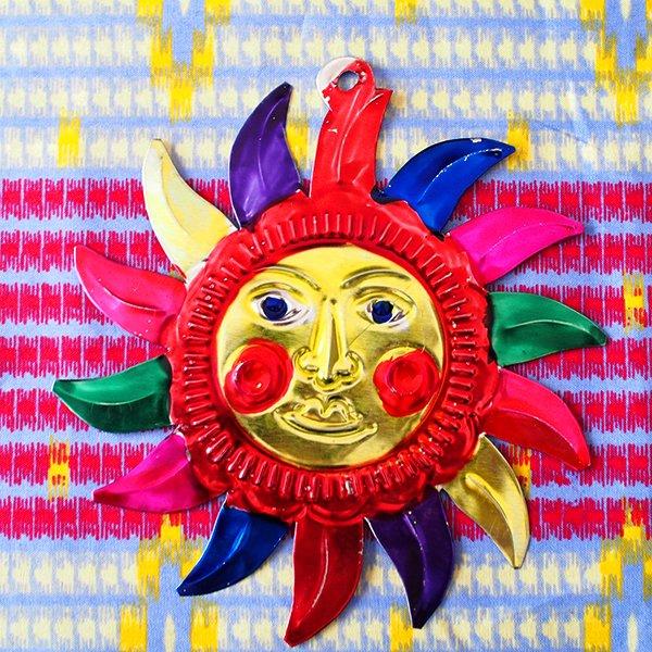 メキシコ ブリキオーナメント(太陽)【画像2】