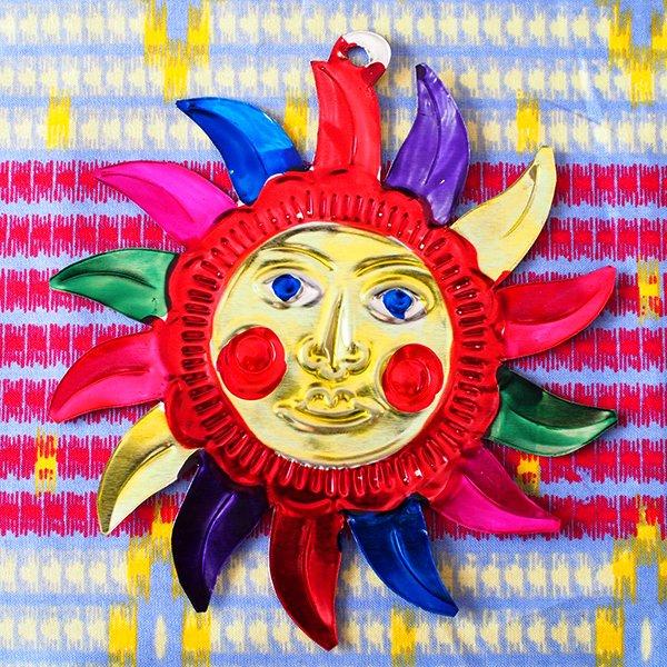 メキシコ ブリキオーナメント(太陽)【画像3】