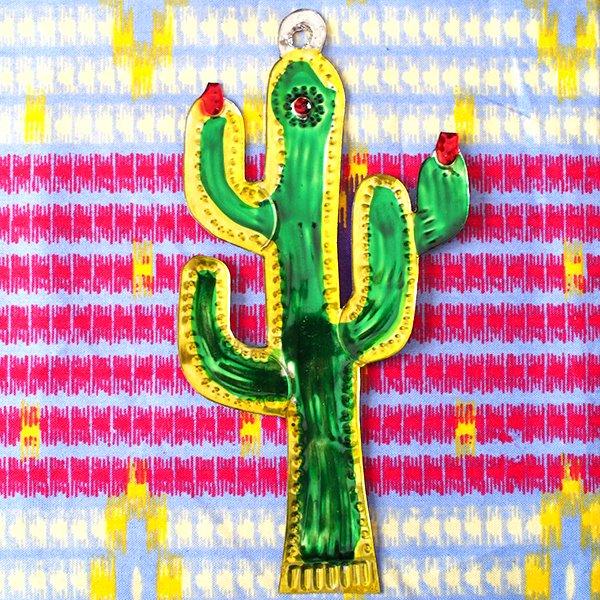 メキシコ ブリキのオーナメント(サボテン)【画像3】