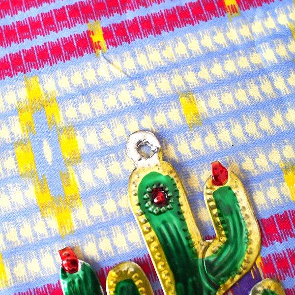 メキシコ ブリキのオーナメント(サボテン)【画像5】
