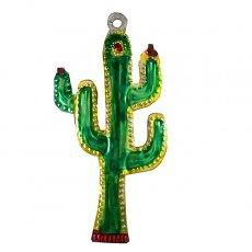 メキシコ ブリキのオーナメント(サボテン)