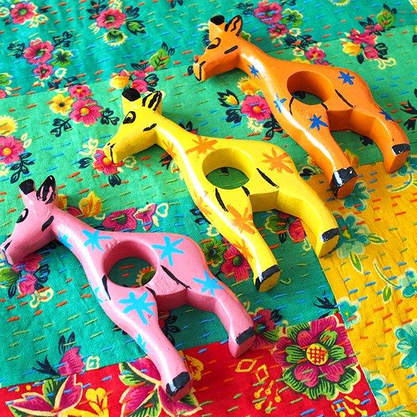 ブルキナファソ テーブル ナプキンリング(キリン 5色)【画像3】
