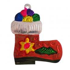 メキシコ ブリキオーナメント(ブーツ)