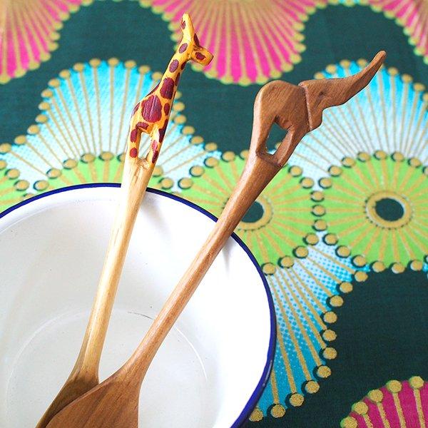 ケニア  木製 スプーン