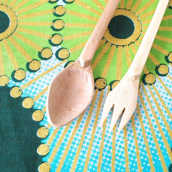 南アフリカ デベレビーズ 木製 フォーク スプーンセット【画像6】