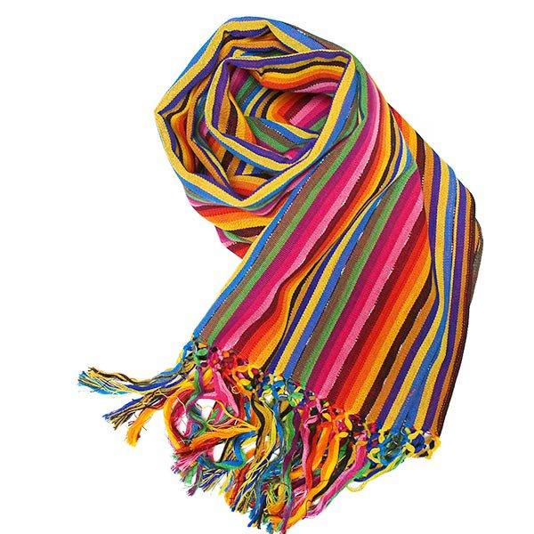 グアテマラ カラフル 手織り布