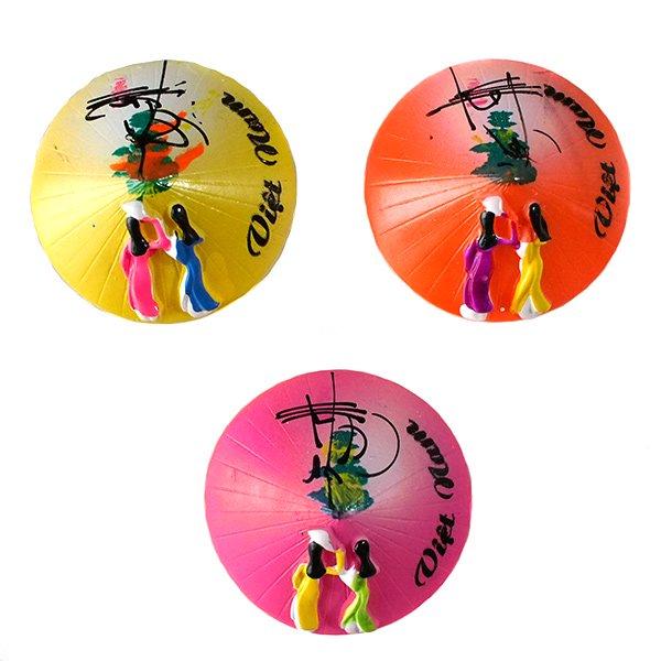 ベトナム ノンラー(三角笠)型 カラフル マグネット【画像2】