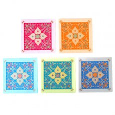 オレンジ 雑貨 インド chimanlals(チマンラール)メッセージカード(模様 封筒付き A)