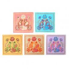 トリ (鳥) 雑貨 インド chimanlals(チマンラール)メッセージカード PAKSHI 蓮・トリ(封筒付き)