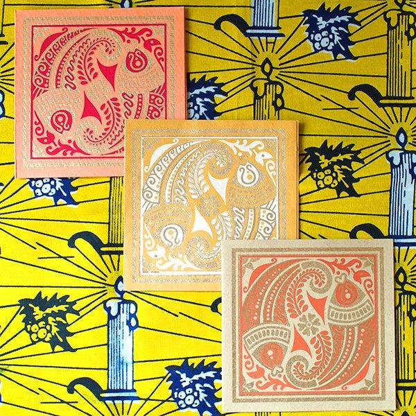 インド chimanlals(チマンラール)メッセージカード MEENAKSHI 魚(封筒付き)【画像2】
