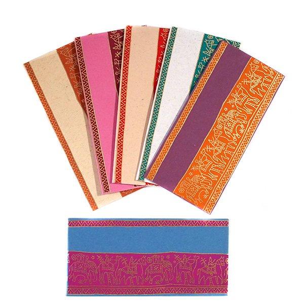 インド chimanlalsの封筒(ゾウと人6色)