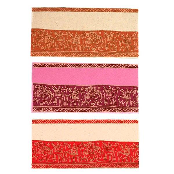 インド chimanlalsの封筒(ゾウと人6色)【画像2】