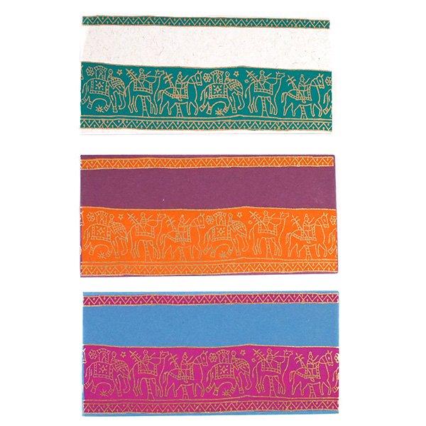 インド chimanlalsの封筒(ゾウと人6色)【画像3】