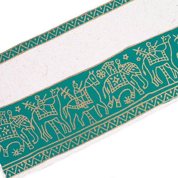 インド chimanlalsの封筒(ゾウと人5色)