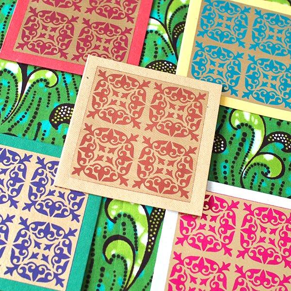 インド  chimanlals (チマンラール)メッセージカード KIRTI 模様(5色 封筒付き)【画像3】
