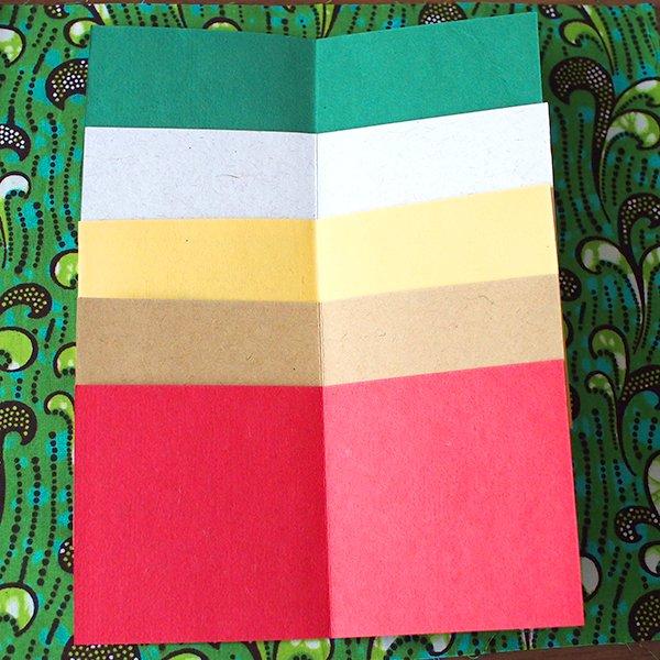 インド  chimanlals (チマンラール)メッセージカード KIRTI 模様(5色 封筒付き)【画像4】