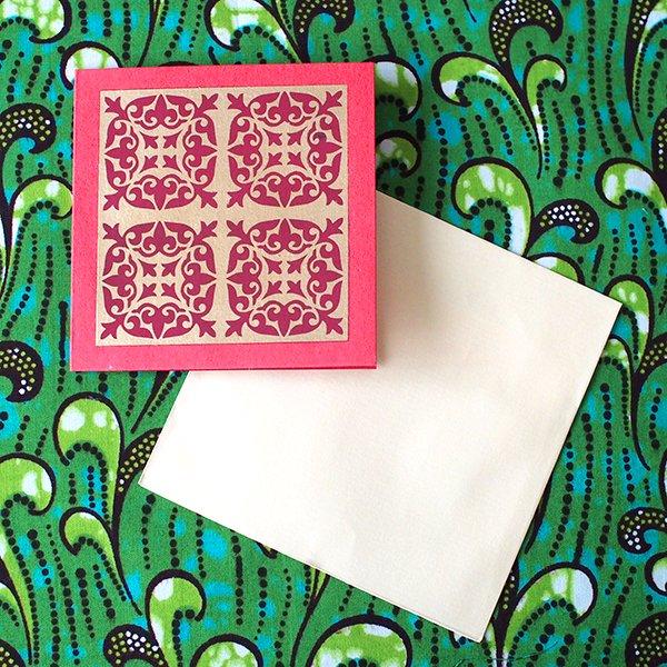 インド  chimanlals (チマンラール)メッセージカード KIRTI 模様(5色 封筒付き)【画像5】