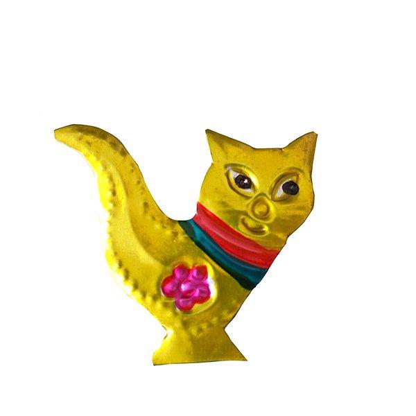 メキシコ ブリキのマグネット(ネコ2)