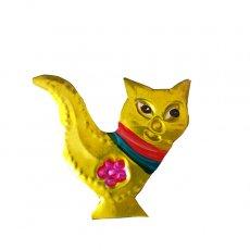 メキシコ ブリキのオーナメントマグネット(ネコ2)
