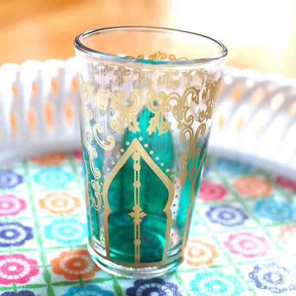 モロッコ モスク 唐草 プリントグラス【画像2】