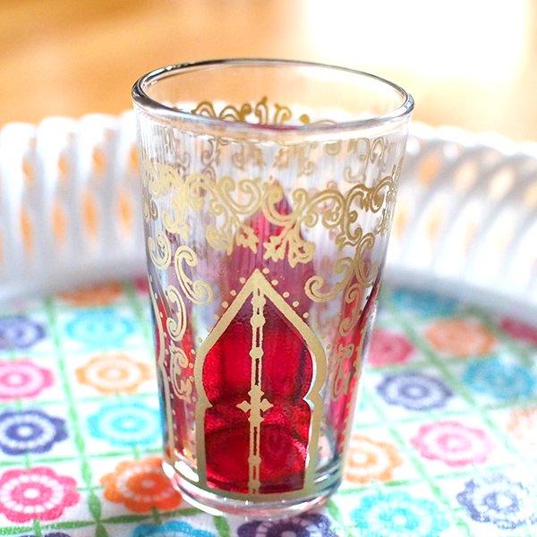 モロッコ モスク 唐草 プリントグラス【画像3】