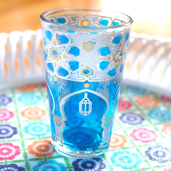 モロッコ モスク柄 プリントグラス【画像5】
