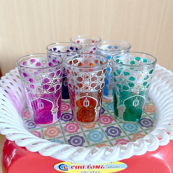 モロッコ プリントグラス(モスク柄)【画像6】