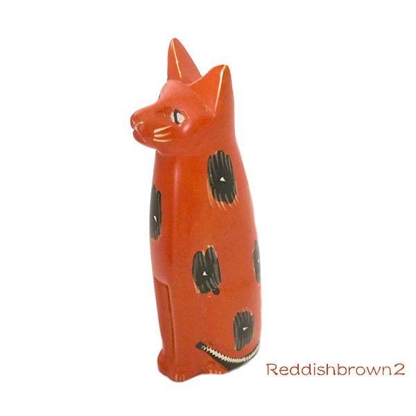 ケニア  ソープストーン お座りネコ(4色)【画像5】