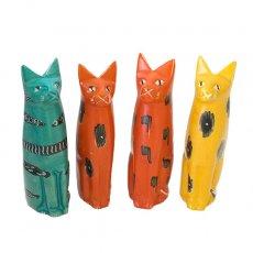 ネコ(猫)シリーズ ケニア  ソープストーン アニマル (お座りネコ)