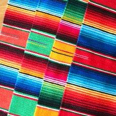 赤・レッド 雑貨 メキシコ サラッペ柄 ランチマット