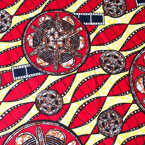 アフリカン プリント布 パーニュ 115×90 カットオフ(フィルム柄)