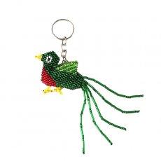 トリ (鳥) 雑貨 メキシコ ビーズキーホルダー ケツァール