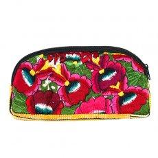 グアテマラ ウィピル刺繍 グアテマラ  トトニカパン ウィピル 花刺繍のポーチA(L)