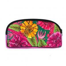 グアテマラ ウィピル刺繍 グアテマラ  トトニカパン ウィピル 花刺繍のポーチB(L)