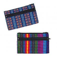グアテマラ 雑貨  グアテマラ カラフルポーチ(2色)