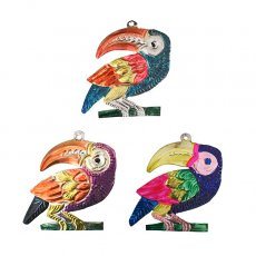 トリ (鳥) 雑貨 メキシコ ブリキオーナメント(オオハシ)